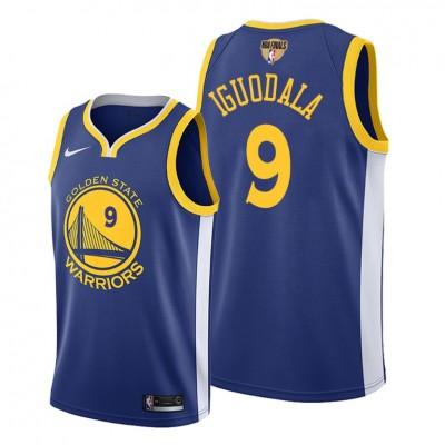 NBA Warriors 9 Andre Iguodala Blue 2019 Finals Bound Swingman Men Jersey