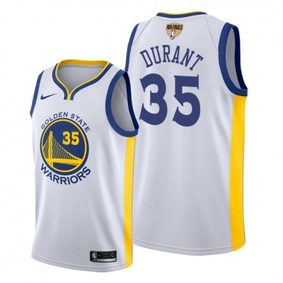 NBA Warriors 35 Kevin Durant White 2019 Finals Bound Swingman Men Jersey