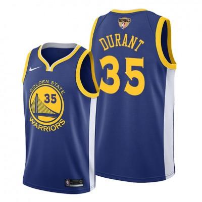 NBA Warriors 35 Kevin Durant Blue 2019 Finals Bound Swingman Men Jersey