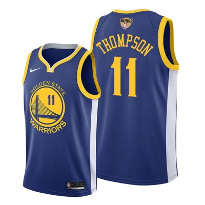NBA Warriors 11 Klay Thompson Blue 2019 Finals Bound Swingman Men Jersey