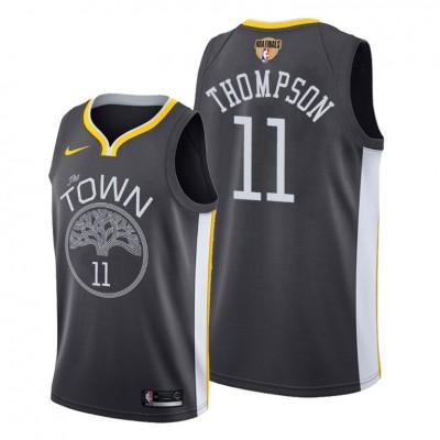 NBA Warriors 11 Klay Thompson Black 2019 Finals Bound Swingman Men Jersey