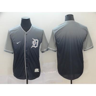 MLB Tigers Blank Gray Drift Fashion Men Jersey