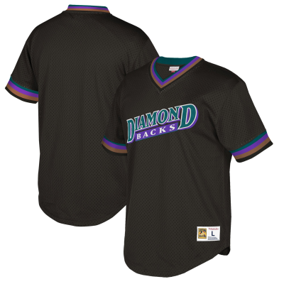 MLB Diamondbacks Blank Black Cooperstown Throwback Men Jersey