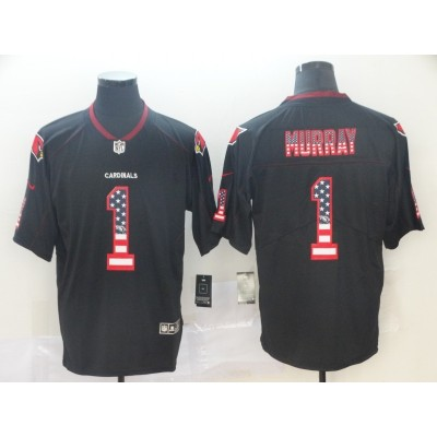 Nike Cardinals 1 Kyler Murray Black USA Flag Fashion Limited Men Jersey