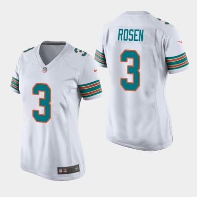 Nike Dolphins 3 Josh Rosen 2019 White Throwback Women Jersey