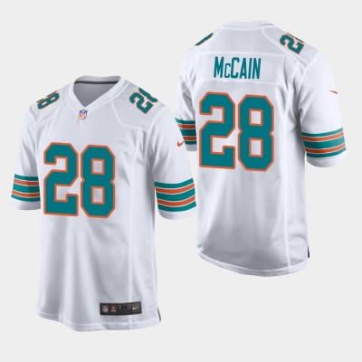 Nike Dolphins 28 Bobby McCain 2019 White Throwback Men Jersey