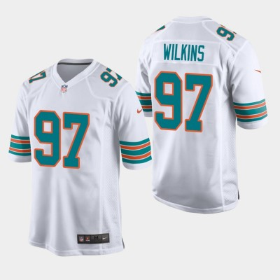 Nike Dolphins 97 Christian Wilkins 2019 White Throwback Men Jersey