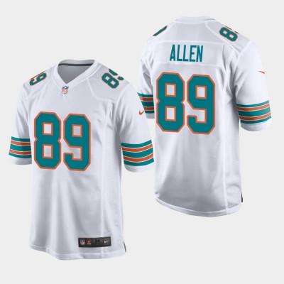 Nike Dolphins 89 Dwayne Allen 2019 White Throwback Men Jersey