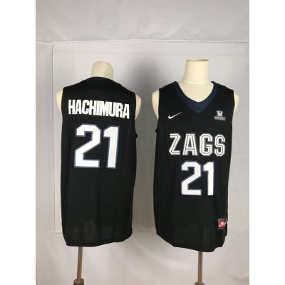 NCAA Gonzaga Bulldogs 21 Rui Hachimura Black College Basketball Men Jersey