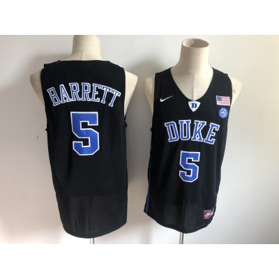 NCAA Duke Blue Devils 5 RJ Barrett Black Nike College Basketball Men Jersey