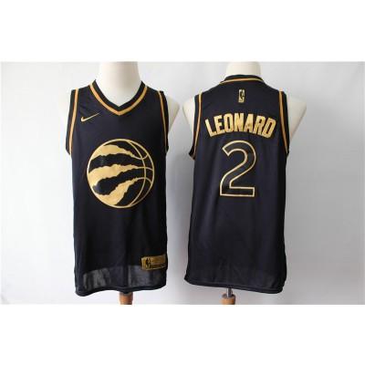 54fa92e1dc1 NBA Raptors 2 Kawhi Leonard Black Gold Nike Swingman Men Jersey