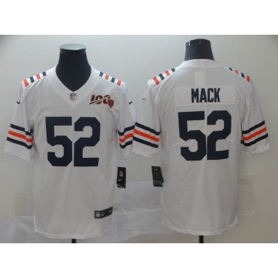 Nike Bears 52 Khalil Mack White Alternate 100th Vapor Untouchable Limited Men Jersey