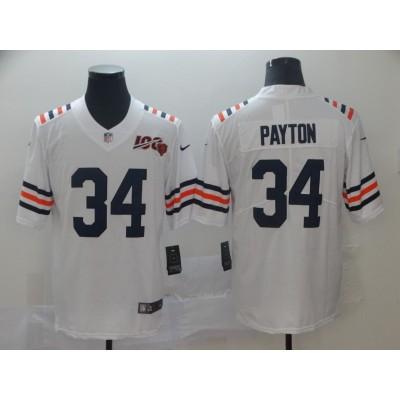 Nike Bears 34 Walter Payton White Alternate 100th Vapor Untouchable Limited Men Jersey