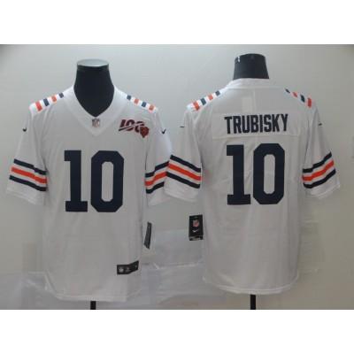 Nike Bears 10 Mitchell Trubisky White Alternate 100th Vapor Untouchable Limited Men Jersey