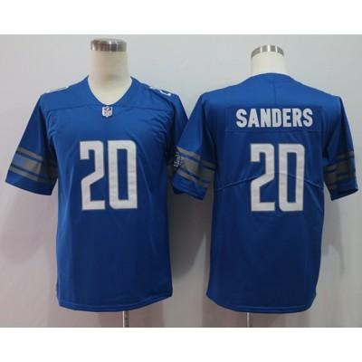 Nike Lions 20 Barry Sanders Blue Vapor Untouchable Limited Men Jersey