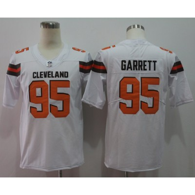 Nike Browns 95 Myles Garrett White Vapor Untouchable Limited Men Jersey