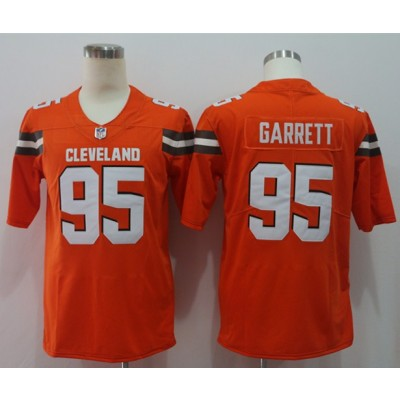 Nike Browns 95 Myles Garrett Orange Vapor Untouchable Limited Men Jersey