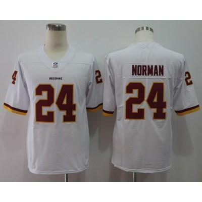 Nike Redskins 24 Josh Norman White Vapor Untouchable Limited Men Jersey