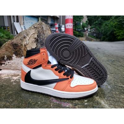 Air Jordan 1 High White Black Orange Shoes