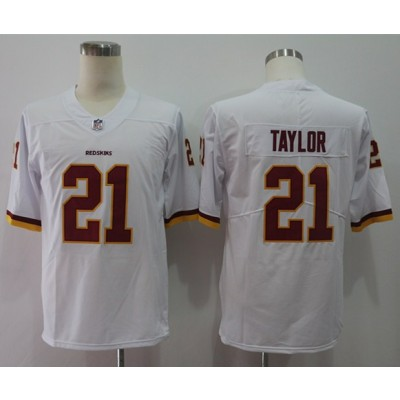 Nike Redskins 21 Sean Taylor White Vapor Untouchable Limited Men Jersey