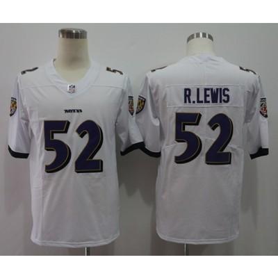 Nike Ravens 52 Ray Lewis White Vapor Untouchable Limited Men Jersey
