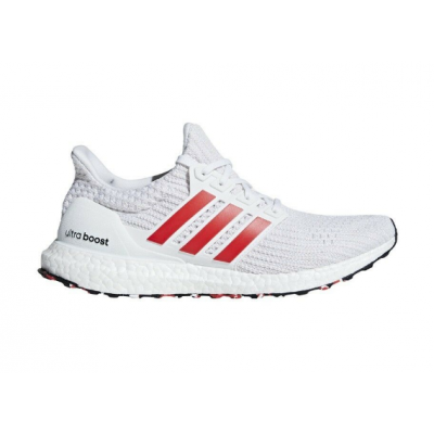 Adidas Ultra Boost White Red Shoes