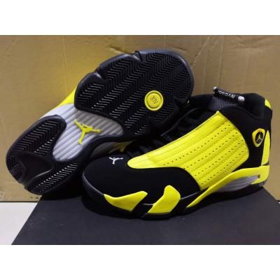 Air Jordan 14 Yellow Black Shoes