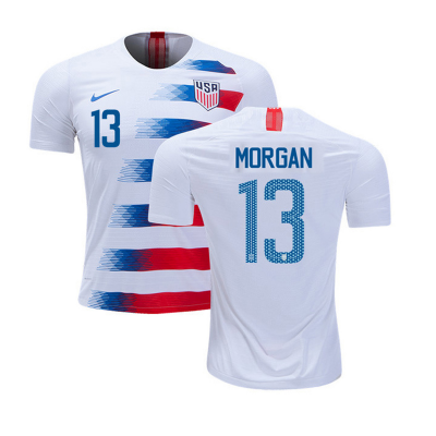 2018-19 USA 13 Alex Morgan Home Soccer Men Jersey