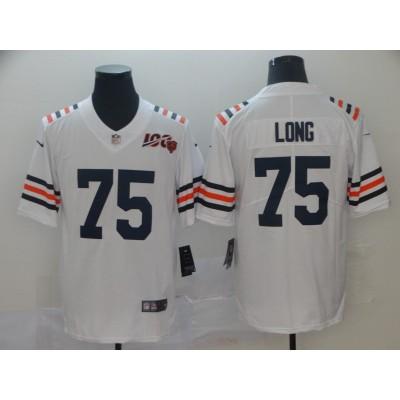 Nike Bears 75 Kyle Long White Alternate 100th Vapor Untouchable Limited Men Jersey