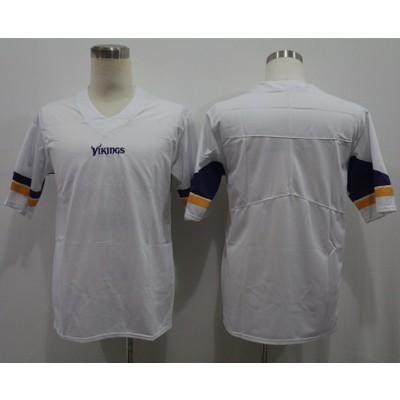 Nike Vikings Blank White Vapor Untouchable Limited Men Jersey