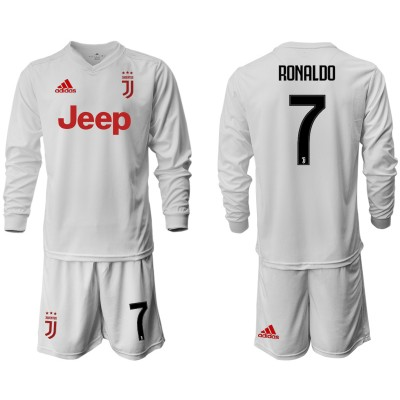 2019-20 Juventus 7 RONALDO Long Sleeve Away Soccer Men Jersey