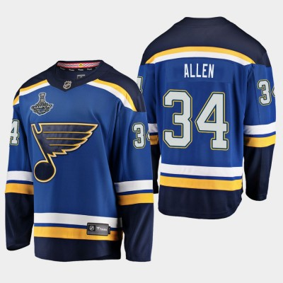 NHL Blues Jake Allen 2019 Stanley Cup Champions Home Adidas Men Jersey