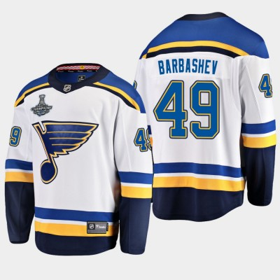 NHL Blues Ivan Barbashev 2019 Stanley Cup Champions White Adidas Men Jersey
