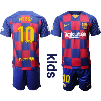 2019-20 Barcelona 10 MESSI Home Soccer Youth Jersey