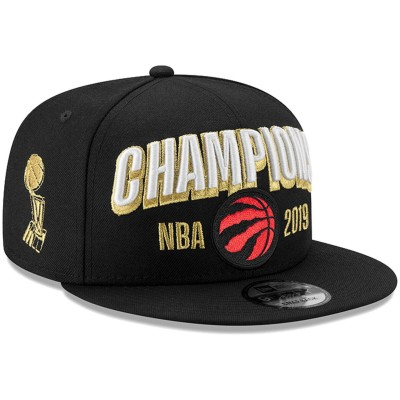 NBA Raptors Team Logo Black 2019 NBA Finals Champions Adjustable Hat SG