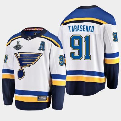 NHL Blues Vladimir Tarasenko 2019 Stanley Cup Champions White Adidas Men Jersey