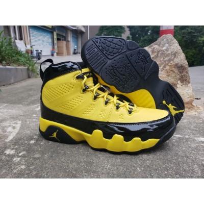 Air Jordan 9 Black Yellow Shoes