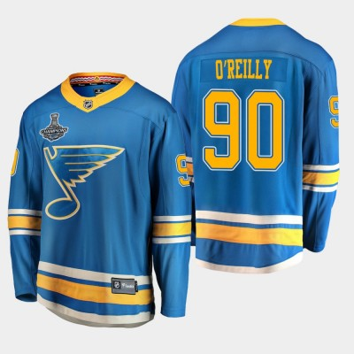 NHL Blues Ryan O'Reilly 2019 Stanley Cup Champions Alternate Adidas Men Jersey