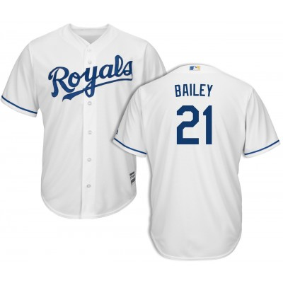 MLB Royals 21 Homer Bailey White Cool Base Men Jersey