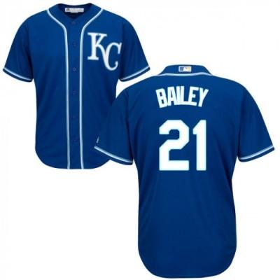 MLB Royals 21 Homer Bailey Blue Cool Base Men Jersey