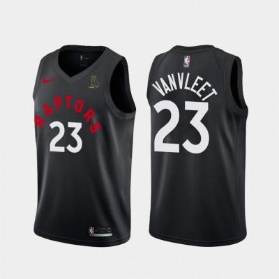 NBA Raptors 23 Fred VanVleet Black With Owl Logo Nike Men Jersey
