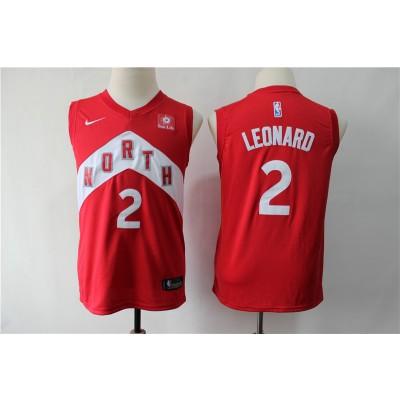 NBA Raptors 2 Kawhi Leonard Red Earned Edition Nike Youth Jersey