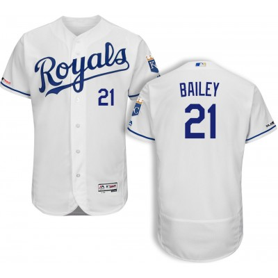 MLB Royals 21 Homer Bailey White Flexbase Men Jersey