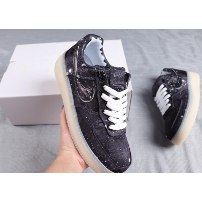 CLOT x Air Force 1 Black Shoes