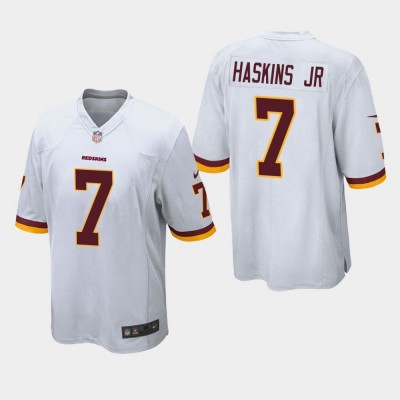 Nike Redskins 7 Dwayne Haskins Jr White Elite Men Jersey