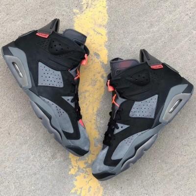 "Air Jordan 6 Retro ""PSG"" Black Grey Shoes"