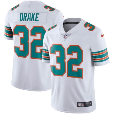Nike Dolphins 32 Kenyan Drake White Alternate Vapor Untouchable Limited Men Jersey