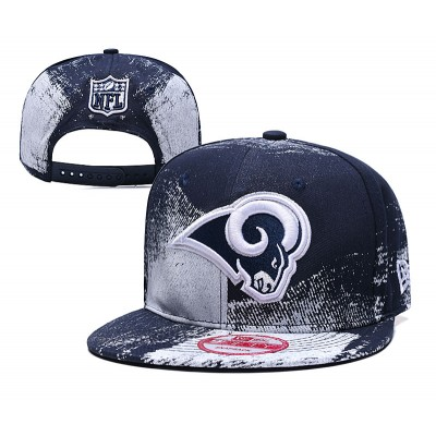 NFL Rams Team Logo Navy Adjustable Hat SG