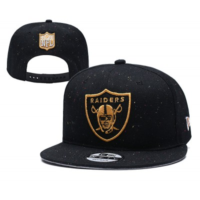NFL Raiders Team Gold Logo Black Adjustable Hat YD