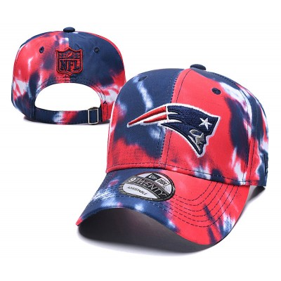 NFL Patriots Team Logo Red Navy Peaked Adjustable Fashion Hat YD